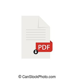 vettore, scaricare, file, pdf, documento