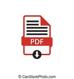 vettore, scaricare, pdf, documento