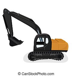vettore, scavatore, illustrazione