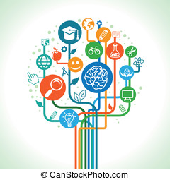 vettore, scienza, concetto, educazione