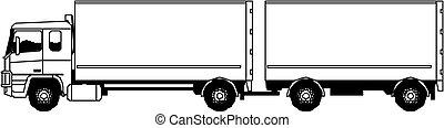 vettore, semi-camion