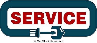 vettore, servizio, segno