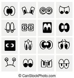 vettore, set, cartone animato, icona