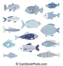 Blu pesci sfondo giallo vettore cerca clip art for Sfondo animato pesci