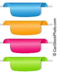 vettore, set, etichetta, labels., illustrazione