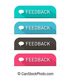vettore, set, feedback, icone