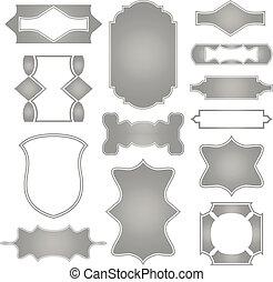 vettore, set, frames.