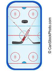 vettore, set, hockey, illustrazione