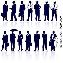 vettore, set, persone affari