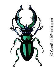 vettore, silhouette, di, il, insetto, bianco, fondo