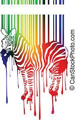 vettore, silhouette, zebra