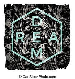 vettore, slogan, t-shirts, illustrazione