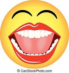 vettore, smiley, emoticon, faccia
