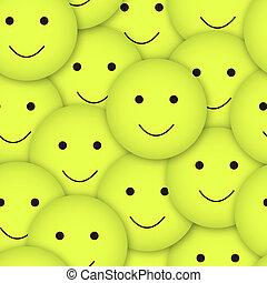 vettore, smileys, seamless, fondo