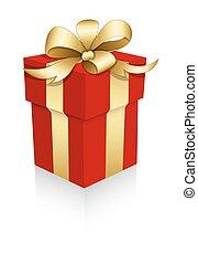 vettore, sorpresa, scatola regalo