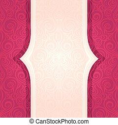 vettore, spazio, modello, carta da parati, repeatable, disegno, fondo, floreale, copia, rosso