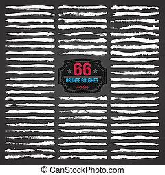 vettore, spazzole, grunge, 66