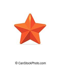 vettore, stella, rosso
