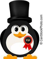 vettore, stile, astratto, cartone animato, penguin., illustrazione