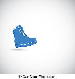vettore, stivali, illustrazione