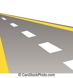 vettore, strada, illustrazione