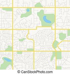 vettore, strade città, -, mappa