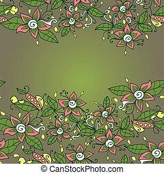 vettore, struttura, astratto, pattern., seamless, fiore