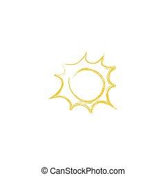 vettore, sun., disegno, illustrazione