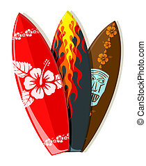vettore, surf imbarca