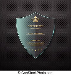 vettore, template., certificato