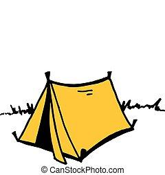 vettore, tenda
