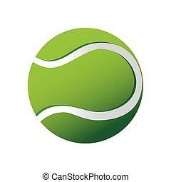 vettore, tennis, icona, sport palla