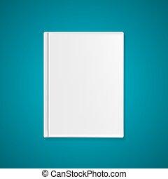 vettore, testo, coperchio, illustrazione, tuo, libro, sagoma, images., o, vuoto