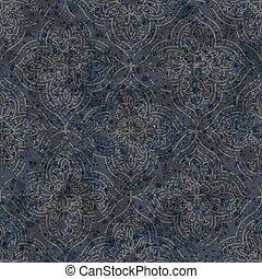 vettore, textured, fondo., ornamento, damasco, hand-drawn