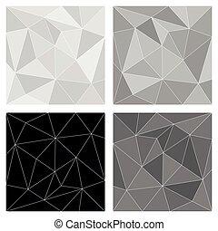 vettore, triangolo, grigio, fondo