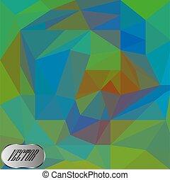 vettore, triangolo, mosaico, fondo