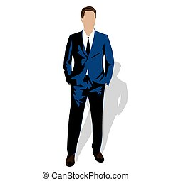 vettore, uomo, illustrazione affari