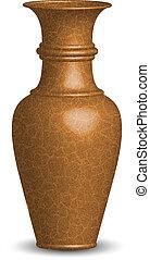vettore, vecchio, illustrazione, vaso