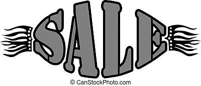 vettore, vendita, illustrazione, parola