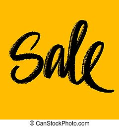 vettore, vendita, mano, illustrazione, iscrizione