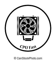 vettore, ventilatore, cpu, illustrazione, icona