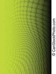 vettore, verde, puntino