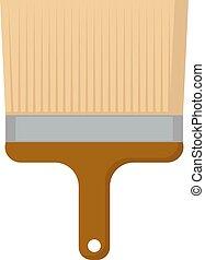 vettore, vernice bianca, spazzola, fondo., illustrazione