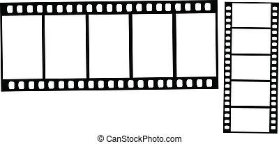 vettore, video, film, striscie