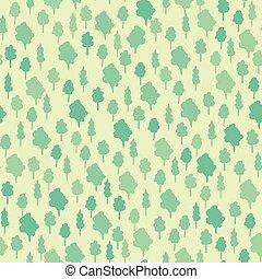vettore, zecca verde, modello, terreno boscoso, seamless