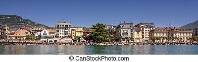 details view of panorama Vevey (Vaud), Geneva lake, Switzerland