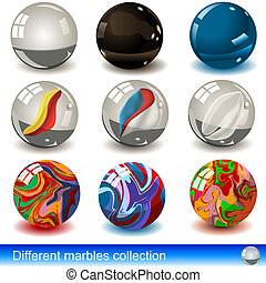 Vevtor marbles collection