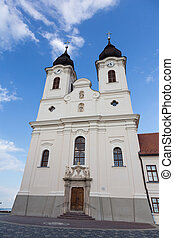 Vew of Tihany Abbey at Lake Balaton in Hungary