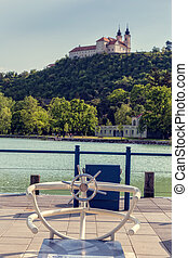 Vew of Tihany Abbey at Lake Balaton in Hungary
