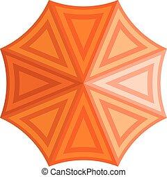 vew, sommet, vecteur, parapluie, illustration.